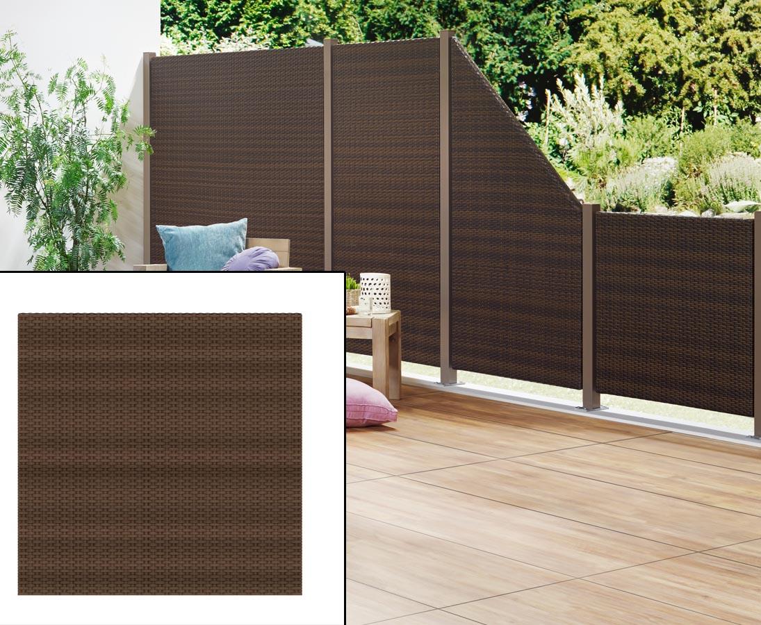 Sichtschutz Terrasse Aus Polyrattan 88x88 Im Discount Einfach Kaufen