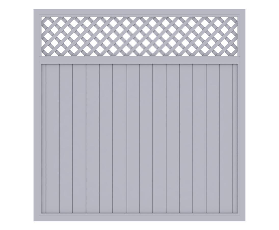 Sichtschutz In Grau Mit Zierleiste 180x180 Gunstig Bestellen