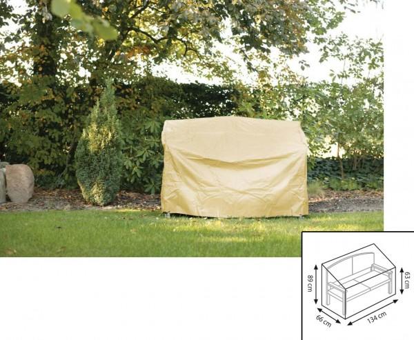 Schutzhülle Gartenmöbel, für Gartenbank, mit 63/89x66x134cm, beige-uni