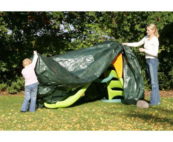 Abdeckplane für Gartenmöbel, witterungsbeständiges PE Material grün, L: 400cm x B: 400cm