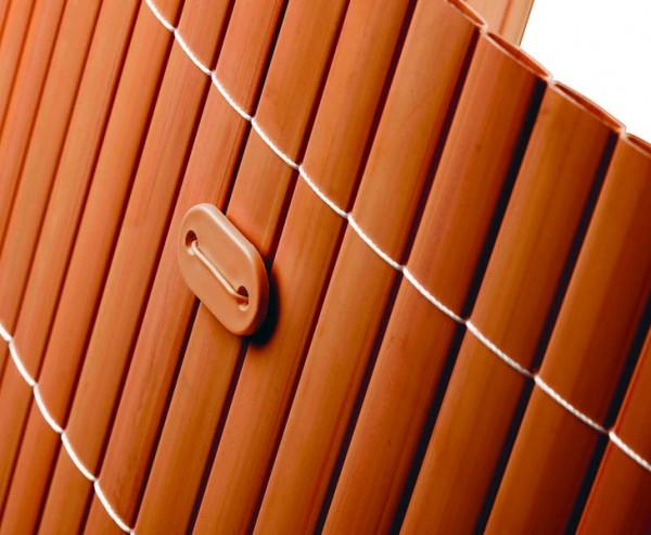 Befestigungsset für PVC Sichtschutzmatten braun, 26 Stück