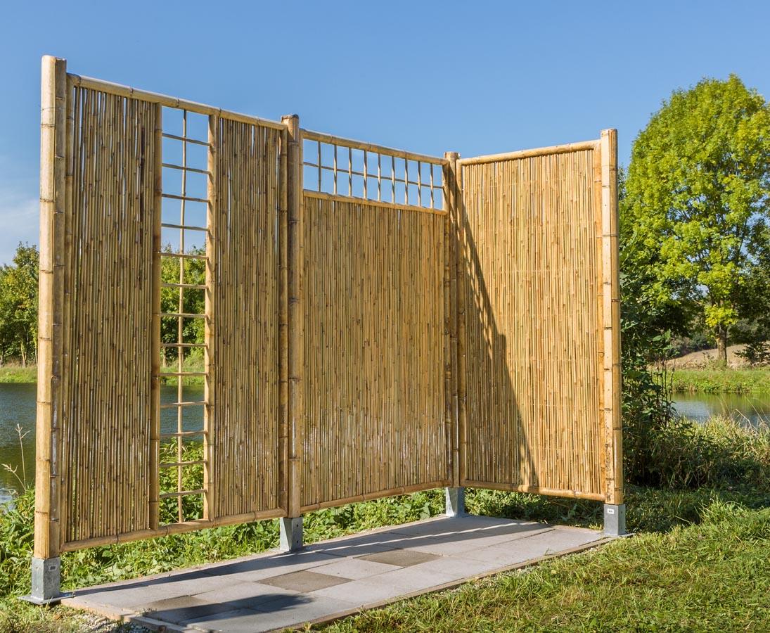 Sichtschutzzaun Bambus Mit Gitter Oben 180x90cm Kaufen