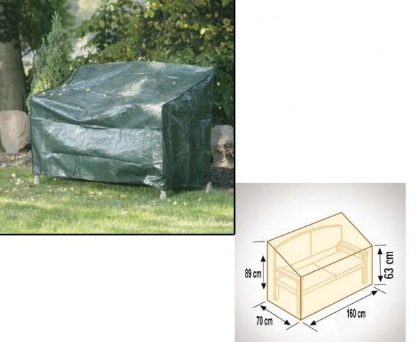 Schutzhülle für Gartenbank, geeignet für 3-Sitzer, PE Material grün, L:160cm B:70cm und Höhe 63x89cm