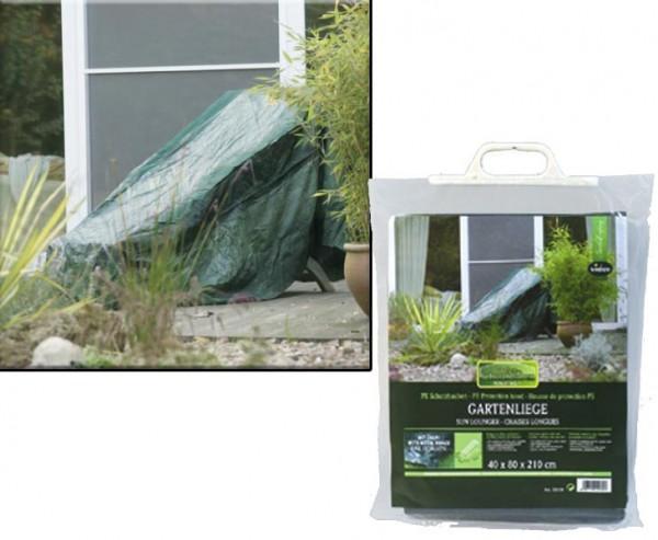 Schutzhaube für Gartenliege ais PE Material, Abmessungen 75x35x205cm, grün