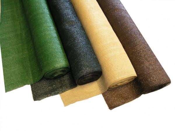 Schattiergewebe dunkelgrün ca. 120gr. pro qm mit 150 x 1.000cm
