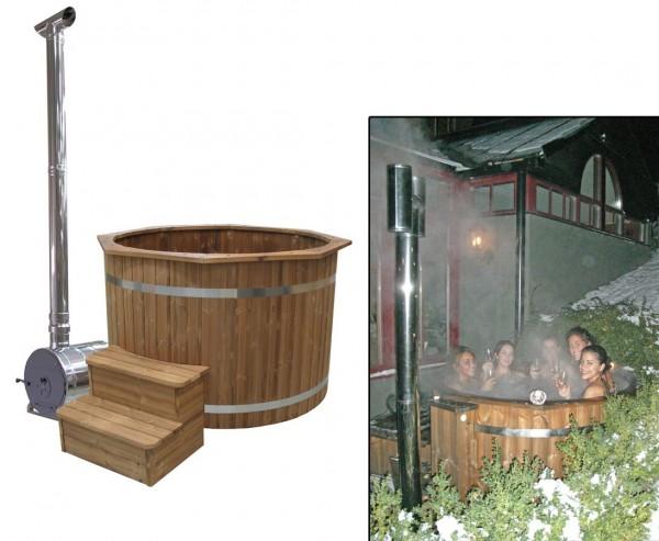 Bade Fass Set2 Standard mit Holzofen, Durch. 150cm