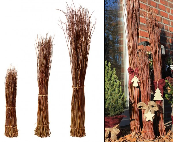 Weidenbündel, natur, Höhe 80cm, Durch. ca. 10 bis 15cm