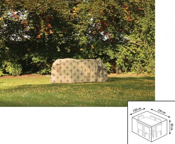 "Schutzhaube""Cover"" Lilie, Tischgruppe rechteckig, 80x150x230cm, beige"