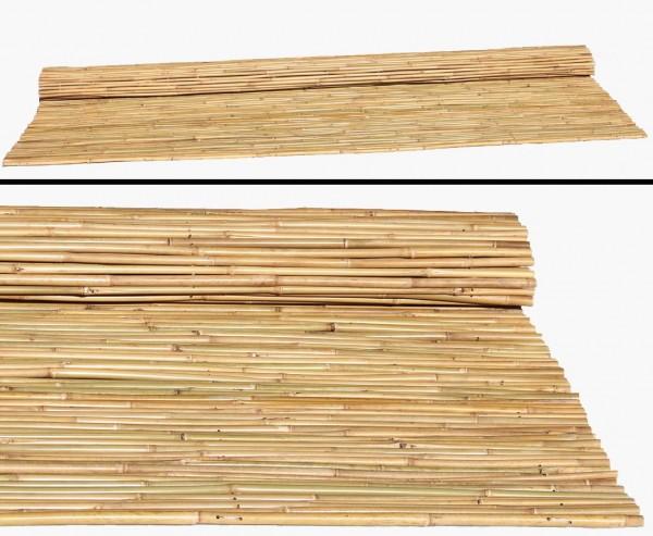 Bambusrohr Rolllzaun 240x240cm, Durch. Bambusrohre 2- 2,2cm