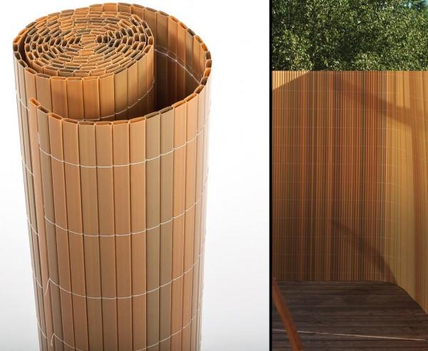 """Balkon Sichtschutz """"Sylt"""" mit 120 x 300cm, teak farbig"""