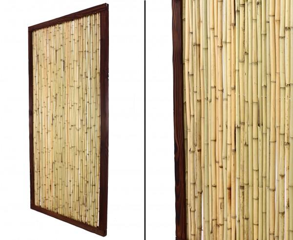 "Bambuszaun Element ""KohSamui Klassik"" 180 x 90cm, dunkler Rahmen"