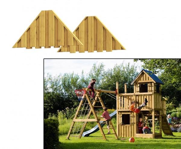 """Dachgiebel für Spielhaus """"Basis"""", 2er Set aus Holz"""