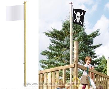 Fahnenmast 300cm mit 4Kant Mast 6,5x6,5cm
