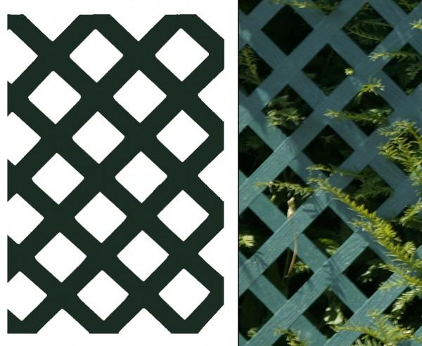 "Sichtschutz Coventry ""Diamant"", ohne Rahmenprofil, 180 x 120cm, grün"