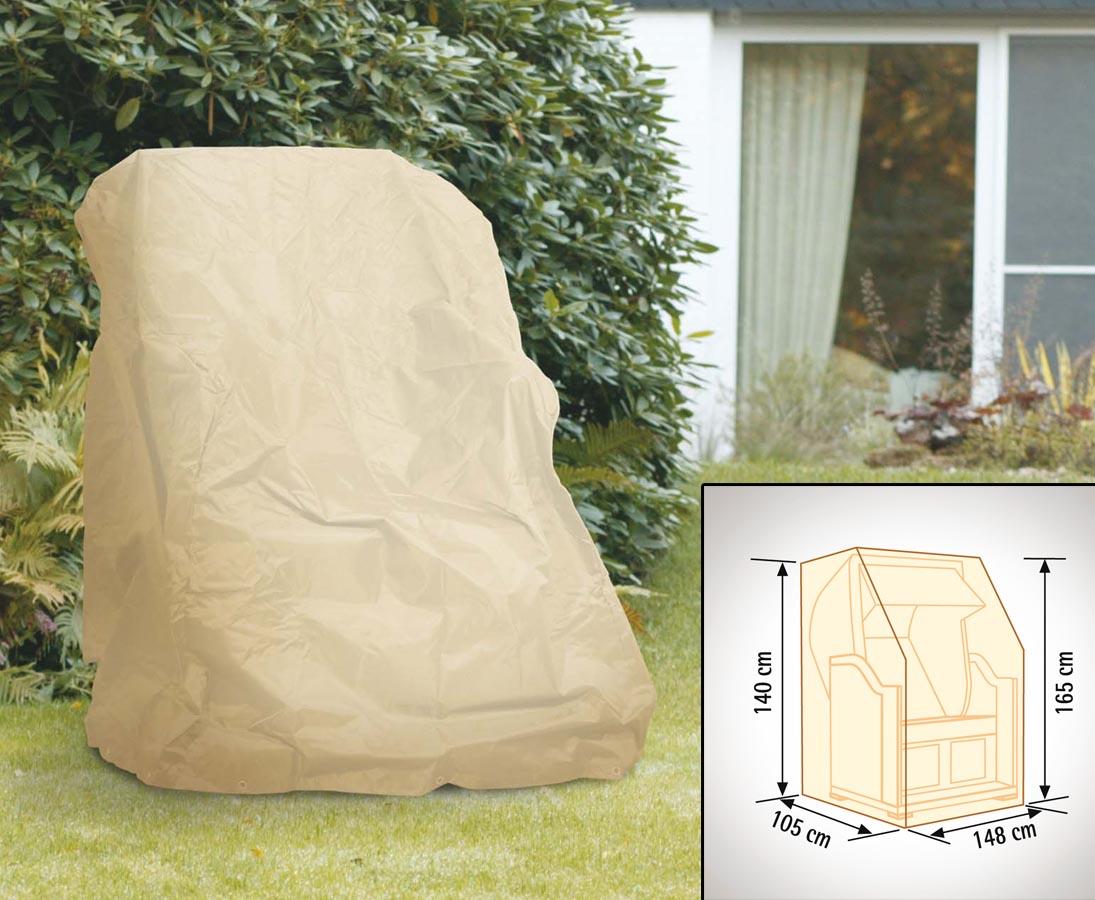 schutzh lle f r strandkorb mit 165x148x105cm beige uni online kaufen. Black Bedroom Furniture Sets. Home Design Ideas