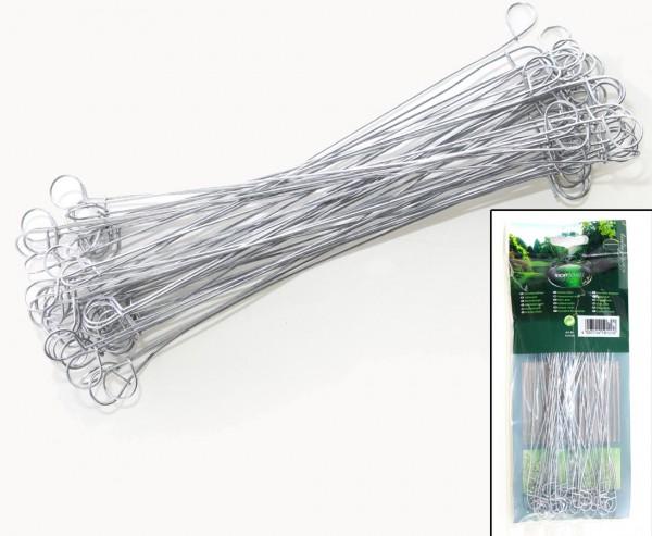 Drahtschlaufe, Verbindungselement für Sichtschutzmatten, verzinkt, 50 St. je Beutel