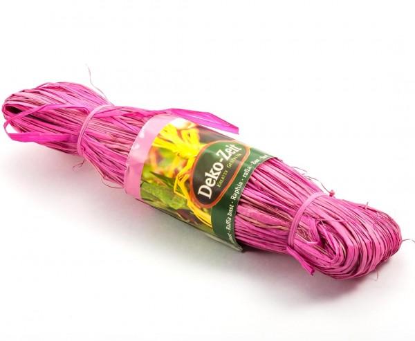 Naturbast in Rosa mit 100cm Länge