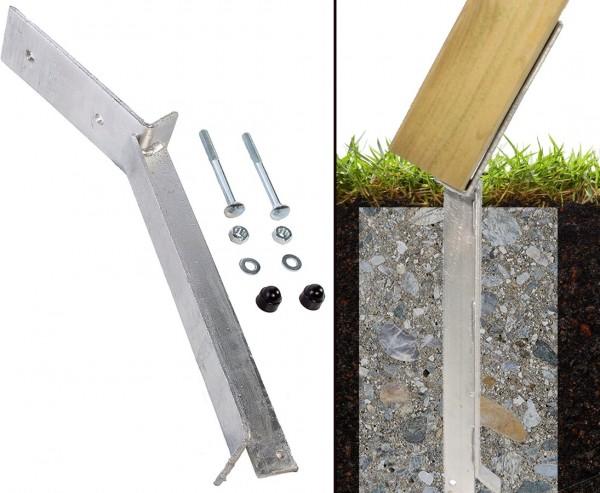 Bodenanker für A-Seitenteil Schaukel zum einbetonieren, 46cm