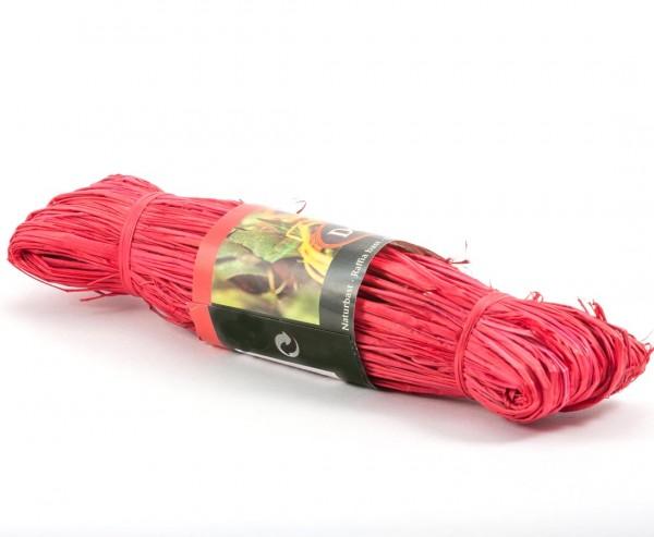 Naturbast rot, 100cm lang