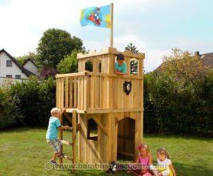Spielturm zur Gartengestaltung nutzen.