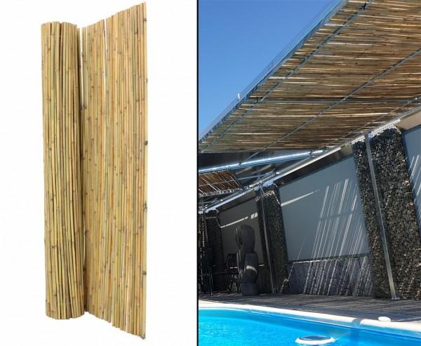 Bambus Matte Bali extrem stabil 250x300cm mit Draht durchbohrt