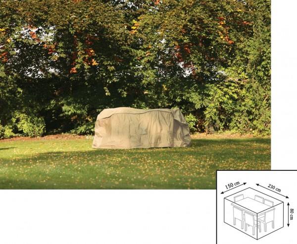 """Gartenmöbel Schutzhülle """"Cover"""", für Tischgruppe rechteckig, 80x150x230cm, beige-uni"""