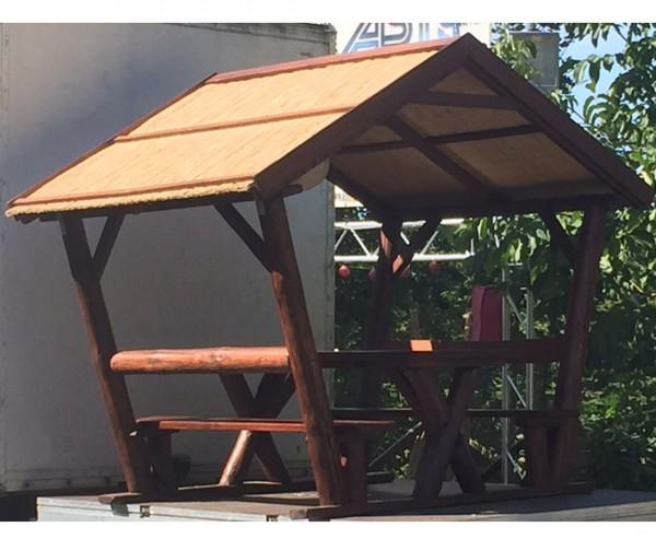 Pavillon überdachte Sitzgruppe mit ca. 200x176cm und einer Höhe von 237cm