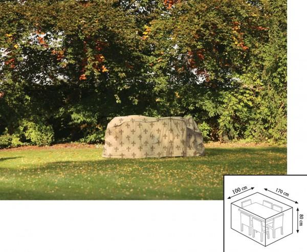 "Schutzhülle""Cover"" Lilie, Tischgruppe rechteckig, 80x100x170cm, beige"