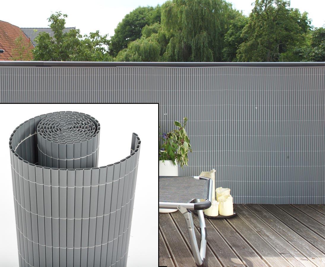 Balkon Sichtschutz Pvc 90x300cm Alu Farbig Jetzt Bestellen