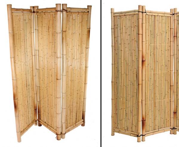 Paravent aus natur Bambus, 3teilig mit 180 x 180cm