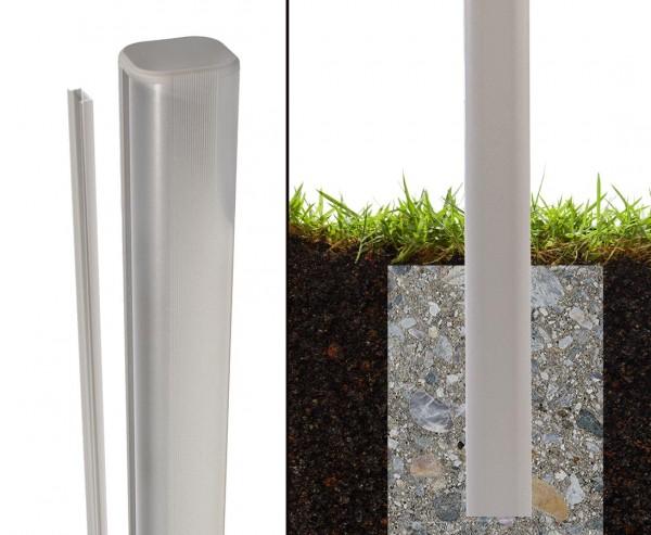 WPC Steckpfosten basic silber für Erdverbau 240cm