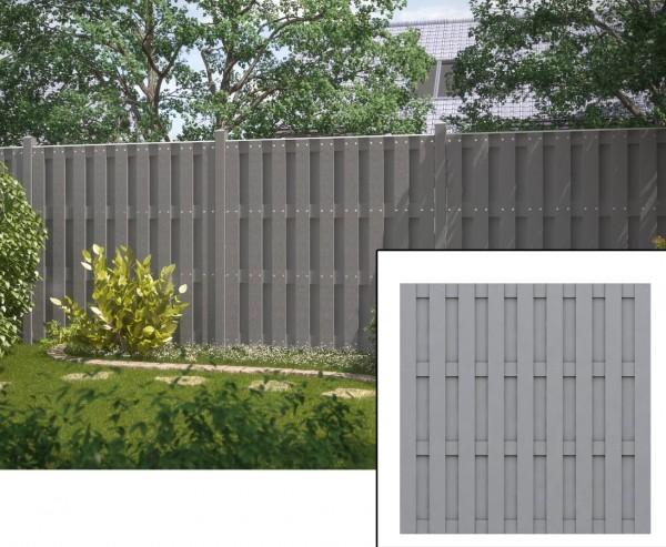 Lamellenzaun grau, blickdicht 179x179cm