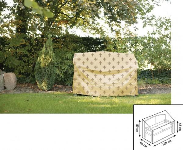 """Schutzhülle Gartenmöbel """"Cover"""" Lilie, Gartenbank, 63/89x66x160cm, beige"""