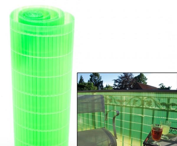 """Balkon Sichtschutz """"Sunshine"""", limonengrün lichtdurchlässig, Höhe 90cm x Länge 300cm"""