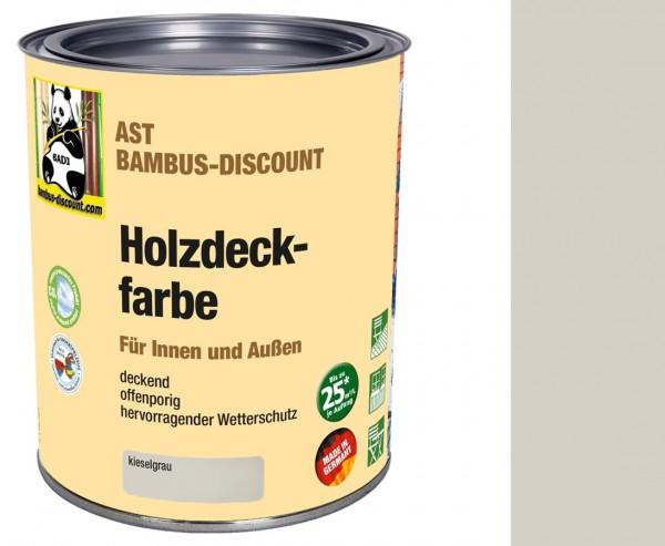 Holzfarbe kieselgrau 0,75 Liter für innen und außen, hervorragender Wetterschutz