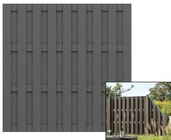 Lamellenzaun, Jumbo WPC anthrazit 179x179cm