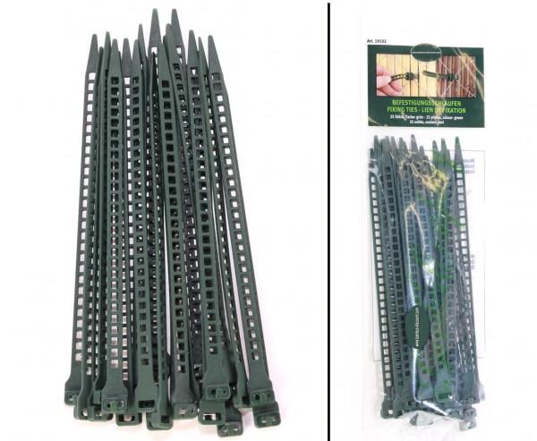 Befestigungsschlaufen 25 Stück, Kabelbinder Funktion grün
