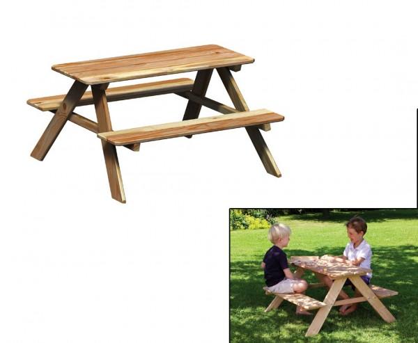Picknicktisch für Kinder aus Holz, 50x89x89cm