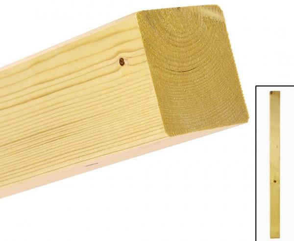 Zaunpfosten 130cm natur, mit 7 x 7cm