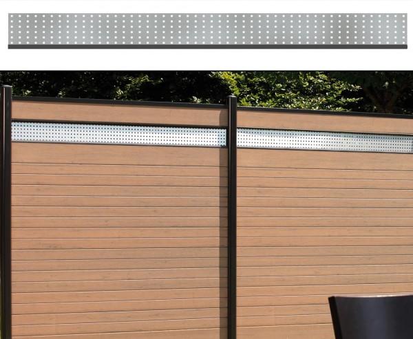Dekorprofil für WPC Zaun, Metall flach 15x180cm