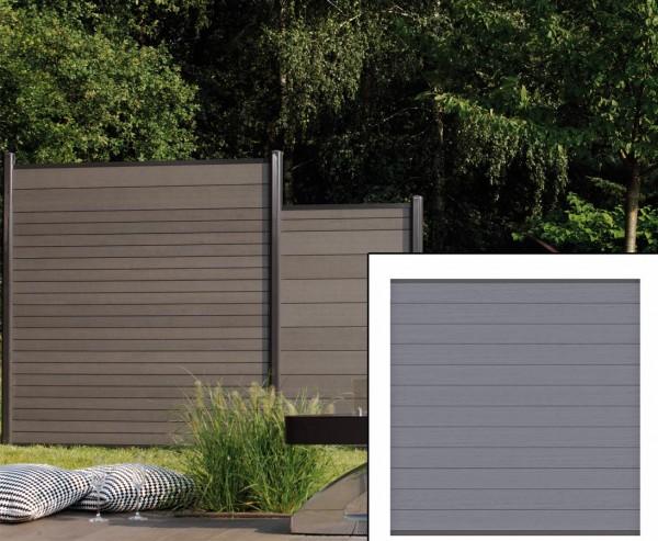 Sichtschutzzaun WPC System Set anthrazit, 178x183cm