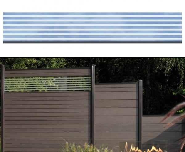WPC Zaun Glasprofil, hoch 30x180cm