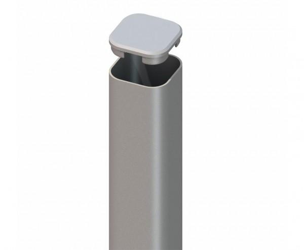 Zaunpfosten aus Metall silber für den Erdverbau 240cm
