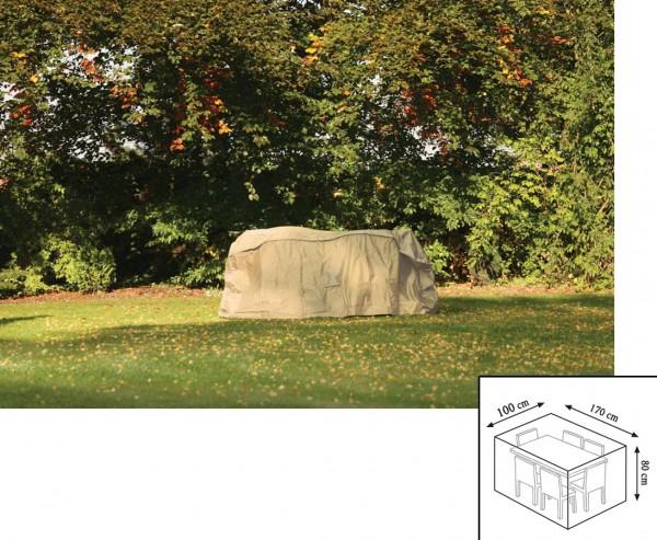 Gartenmöbel Schutzhülle, Tischgruppe rechteckig, 80x100x170cm, beige-uni