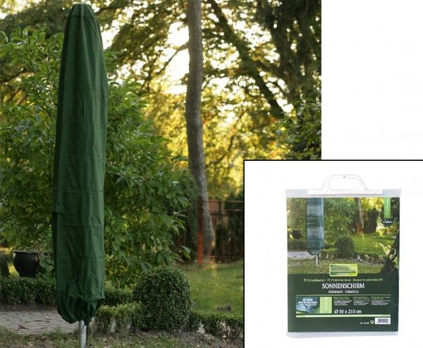 Gartenmöbel Schutzhülle, für Sonnenschirme, mit 210cm und einem Durch. von 50cm, grün