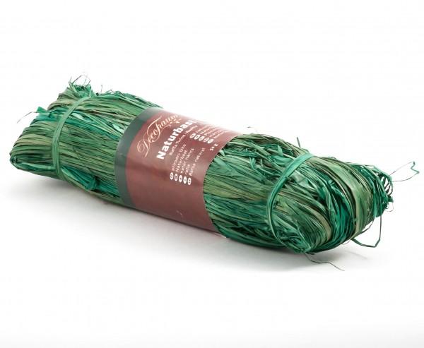 Naturbast dunkelgrün, 100cm lang