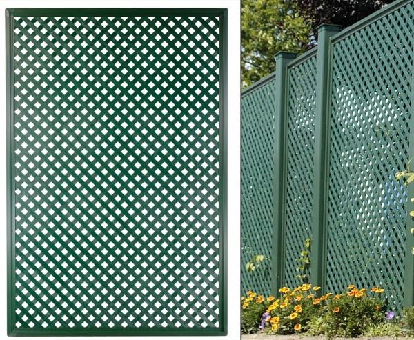 """Terrasen Sichtschutz Coventry """"Diamant"""", 185 x 125cm, grün"""