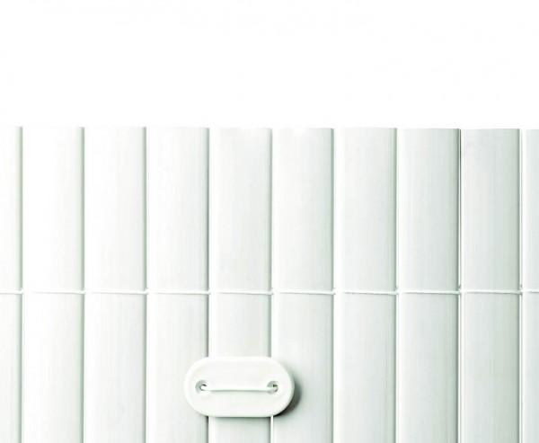 Befestigungsset für PVC Sichtschutzmatten weiß, 26 Stück