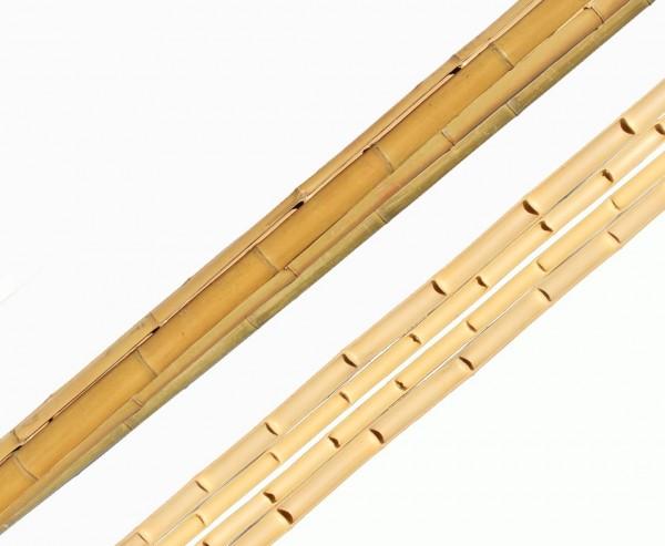 Bambusrohr halbschale Moso gelb, gebleicht, Durch. 5- 6cm, Länge 240cm