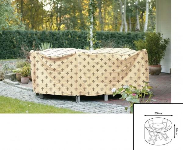 """Abdeckhaube""""Cover"""" Lilie, Tischgruppe rund, mit 80cm und einem Durch. von 200cm, beige"""